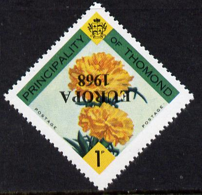 Thomond 1968 Carnation 1d (Diamond-shaped) with 'Europa 1968' overprint inverted unmounted mint