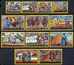 Guinea - Conakry 1968 Regional Costumes set of 12 unmounted mint SG 632-43, Mi 468-79*