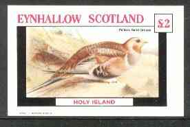 Eynhallow 1982 Birds #21 (Sand Grouse) imperf deluxe sheet (�2 value) unmounted mint