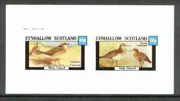 Eynhallow 1982 Birds #22 (Pratincole & Sandpiper) imperf set of 2 values unmounted mint