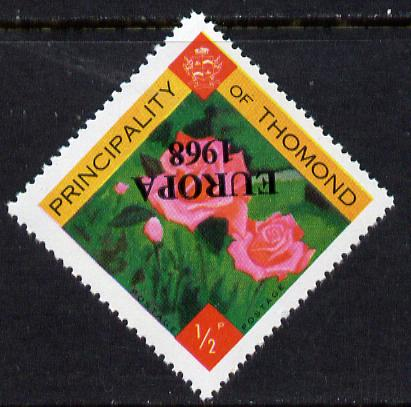 Thomond 1968 Roses 1/2p (Diamond shaped) with