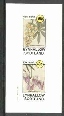 Eynhallow 1982 Flowers #13 (Lupin & Sweet Pea) imperf set of 2 values unmounted mint
