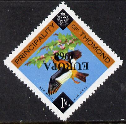 Thomond 1968 Bird 1s6d (Diamond shaped) with 'Europa 1968' overprint inverted unmounted mint