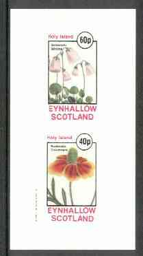 Eynhallow 1982 Flowers #14 (Soldanella &Rudbeckia) imperf set of 2 values unmounted mint
