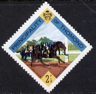 Thomond 1968 Horse Racing 2.5d (Diamond-shaped) with 'Europa 1968' overprint inverted unmounted mint