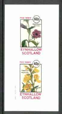 Eynhallow 1982 Flowers #16 (Nierembergia & Piptanthus) imperf set of 2 values unmounted mint