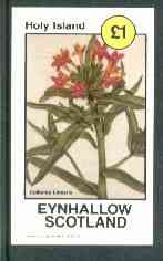 Eynhallow 1982 Flowers #17 (Collomia linearis) imperf souvenir sheet (�1 value) unmounted mint