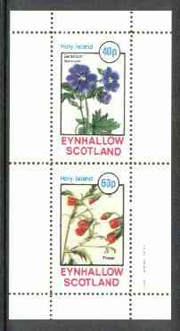 Eynhallow 1982 Flowers #18 (Geranium & Flower) perf set of 2 values unmounted mint