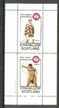 Eynhallow 1982 Costumes #02 (Chilean & Hottentot Archer) perf set of 2 values unmounted mint