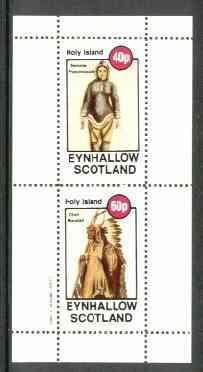 Eynhallow 1982 Costumes #03 (Eskimo Woman & Mandan Indian Chief) perf set of 2 values unmounted mint