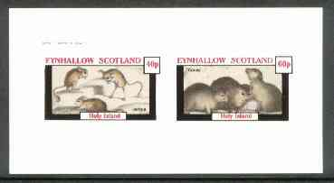 Eynhallow 1982 Animals #11 (Jerboa & Coney) imperf set of 2 values (40p & 60p) unmounted mint