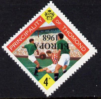 Thomond 1968 Football 4d (Diamond shaped) with 'Europa 1968' overprint inverted unmounted mint