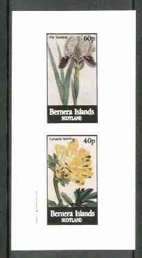 Bernera 1982 Flowers #17 (Iris & Fumaria) imperf  set of 2 values (40p & 60p) unmounted mint