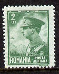 Rumania 1930 King Carol 2L unmounted mint, SG 1184, Mi 390