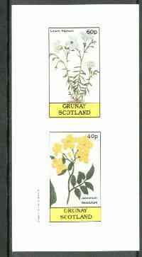 Grunay 1982 Flowers #06 (Linum & Jasminum) imperf set of 2 (40p & 60p) unmounted mint