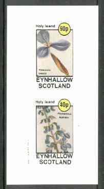 Eynhallow 1982 Flowers #20 (Patersonia & Plectranthus) imperf set of 2 values unmounted mint