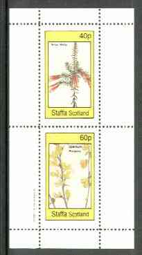 Staffa 1982 Flowers #26 (Erica &Spartium) perf set of 2 values unmounted mint, stamps on flowers