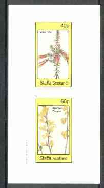 Staffa 1982 Flowers #26 (Erica &Spartium) imperf set of 2 values unmounted mint