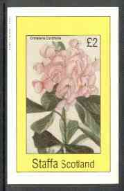 Staffa 1982 Flowers #26 (Crotalaria cordifolia) imperf deluxe sheet (�2 value) unmounted mint