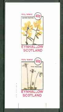Eynhallow 1982 Flowers #21 (Genista & Viola) imperf set of 2 values unmounted mint