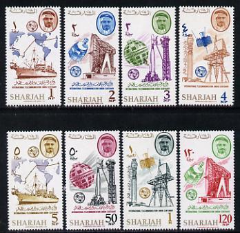 Sharjah 1965 ITU set of 8 unmounted mint (Mi 185-92)