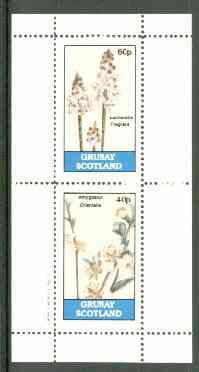 Grunay 1982 Flowers #07 (Lachenalia & Amygdalus) perf set of 2 (40p & 60p) unmounted mint