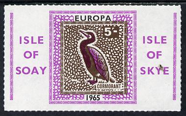 Isle of Soay 1965 Europa (Cormorant) 5s value unmounted mint