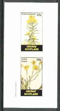 Grunay 1982 Flowers #08 (Cyclopia & Euthalis) imperf set of 2 (40p & 60p) unmounted mint