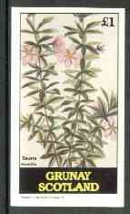 Grunay 1982 Flowers #08 (Bauera) imperf souvenir sheet (�1 value) unmounted mint