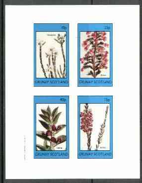 Grunay 1982 Flowers #09 (Diosma, Erica x 2 & Hallia) perf set of 4 unmounted mint