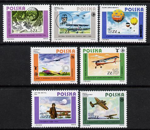 Poland 1984 Polish Aviation set of 7 unmounted mint (SG 2955-61)