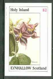 Eynhallow 1982 Flowers #22 (Solanum) imperf deluxe sheet (�2 value) unmounted mint
