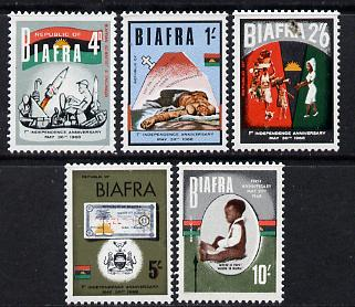 Nigeria - Biafra 1968 1st Anniversary of Independence set of 5 unmounted mint SG 17-21, stamps on constitutions    finance