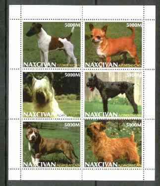 Naxcivan Republic 1999 Dogs sheetlet containing 6 values unmounted mint