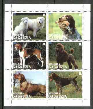 Gagauzia Republic 1999 Dogs sheetlet containing 6 values unmounted mint