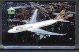 Telephone Card - British Airways Boeing 747-400 �10 phone card