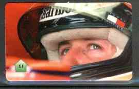 Telephone Card - Michael Schumacher �1 phone card, stamps on , stamps on  stamps on cars    racing cars