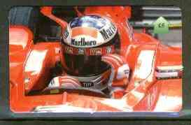 Telephone Card - Michael Schumacher �5 phone card (showing MS adjusting his visor)