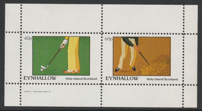 Eynhallow 1982 Golf perf set of 2 values (40p & 60p) unmounted mint