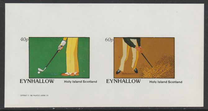Eynhallow 1982 Golf imperf set of 2 values (40p & 60p) unmounted mint