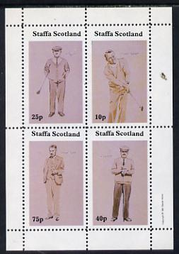 Staffa 1981 Golfers perf set of 4 values (10, 25, 40 & 75p) unmounted mint