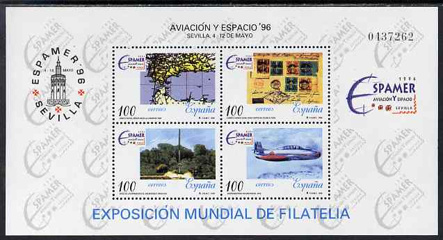 Spain 1996 Espamer Stamp Exhibition perf m/sheet unmounted mint SG MS 3382a