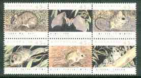 Australia 1992 Threatened Species se-tenant block of 6 unmounted mint, SG 1312a