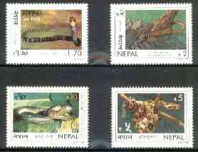 Nepal 1998 Snakes perf set of 4 unmounted mint SG 684-87*