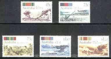 Australia 1992 50th Anniversary of Second World War Battles set of 5 unmounted mint, SG 1338-42