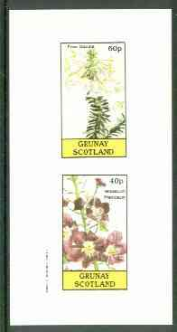 Grunay 1982 Flowers #10 (Erica & Odorata) imperf set of 2 (40p & 60p) unmounted mint