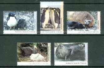 Australian Antarctic Territory 1992 Antarctic Wildlife set of 5 unmounted mint, SG 90-93 & 95