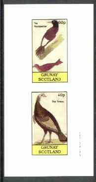 Grunay 1982 Birds #05 (Woodpecker & Turkey) imperf set of 2 values unmounted mint