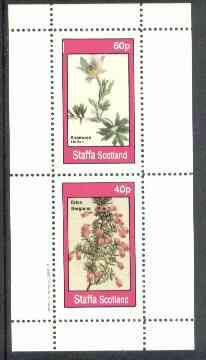 Staffa 1982 Flowers #27 (Anemone & Erica) perf set of 2 values unmounted mint