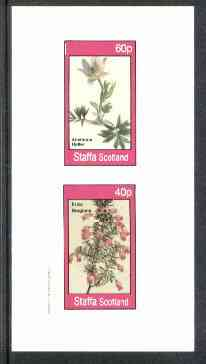 Staffa 1982 Flowers #27 (Anemone & Erica) imperf set of 2 values unmounted mint